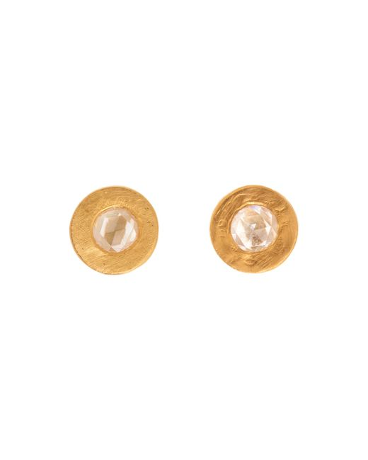 Yossi Harari | Metallic Mica Mini Rose-cut Diamond Stud Earrings | Lyst