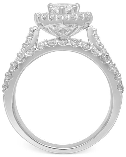 Macy S Diamond Engagement Ring In 14k White Gold 2 3 8 Ct