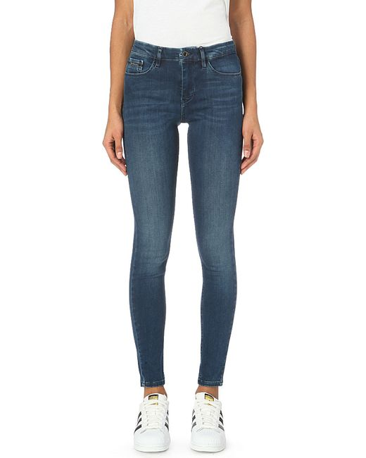 Calvin Klein | Blue Skinny High-rise Jeans | Lyst