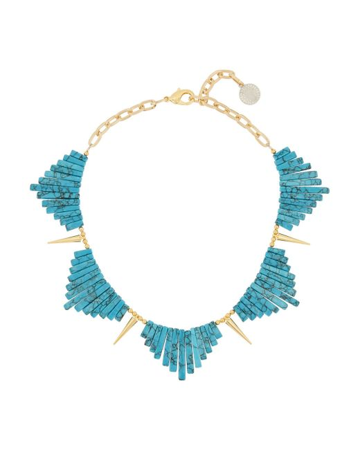 Gemma Redux | Blue Goldplated Resin Necklace | Lyst