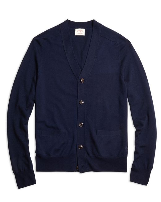 Brooks Brothers | Blue Merino Wool Cardigan | Lyst