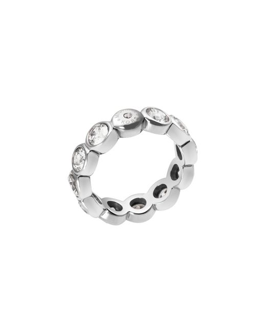 Michael Kors | Metallic Cubic Zirconia Silver-tone Circle Ring | Lyst