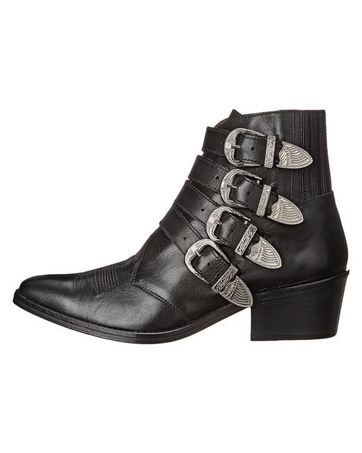 Toga Pulla   Black TP22-AJ006 Leather Ankle Boots   Lyst