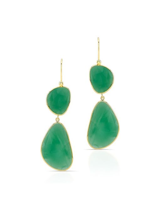 Anne Sisteron | 14kt Yellow Gold Chrysoprase Resort Earrings | Lyst