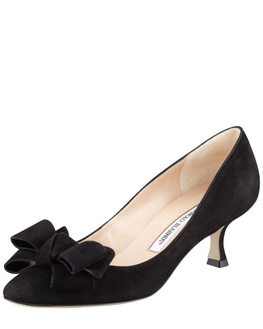 Shop Suede Low-Heel Slip-On Pumps, Black from Sesto Meucci at Neiman Marcus Last Call, where you'll save as much as 65% on designer fashions.