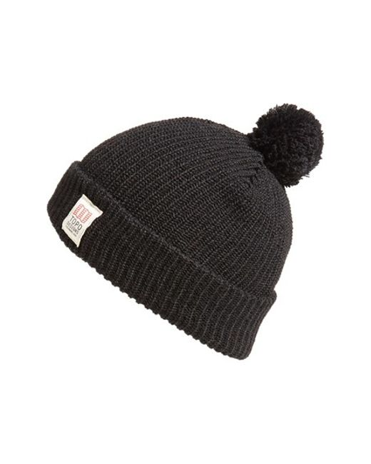 Topo Designs | Black Pom Beanie for Men | Lyst