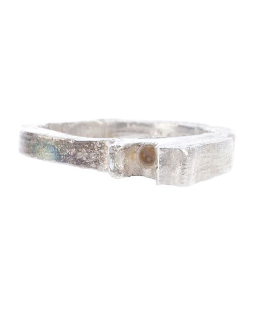 Alice Waese | Metallic 2 Prong Carved Ring | Lyst