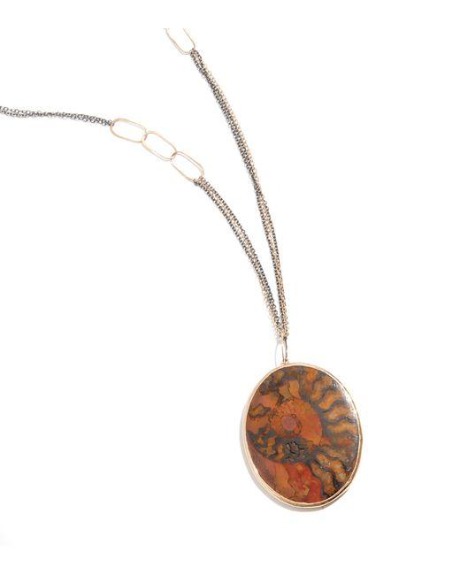Melissa Joy Manning | Orange Ammonite Fossil Necklace | Lyst
