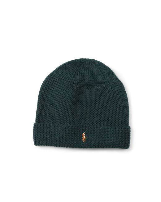 Polo Ralph Lauren | Green Merino Wool Thermal Stitch Hat for Men | Lyst