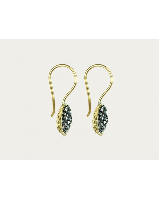 Mor | Metallic Black Swarovski Crystal Earrings | Lyst