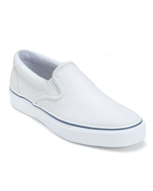 Sperry Top-Sider | White Men's Striper Slip-on Sneakers for Men | Lyst