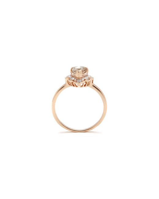 Anna Sheffield | Metallic Camellia Rose Engagement Ring | Lyst