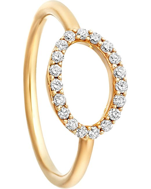 Astley Clarke | Metallic 14ct Yellow Gold Halo Diamond Ring | Lyst