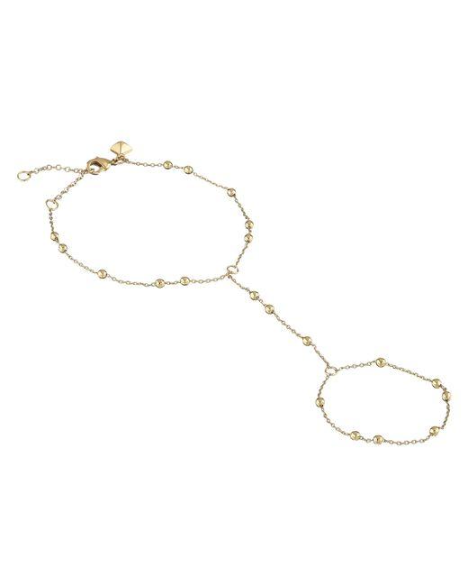 Rebecca Minkoff | Metallic Beaded Handchain Bracelet | Lyst