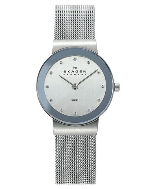 Skagen | Metallic Round Case Mesh Strap Watch | Lyst