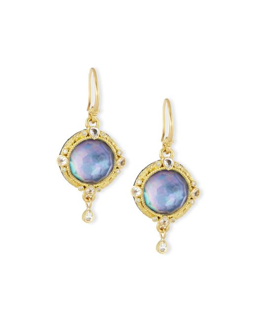 Armenta | Blue Old World Triplet Drop Earrings | Lyst