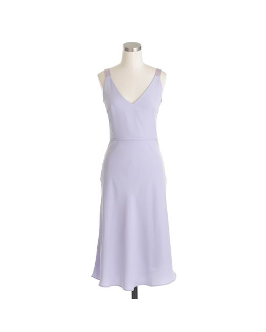 J.Crew | Purple Haley Dress In Drapey Matte Crepe | Lyst