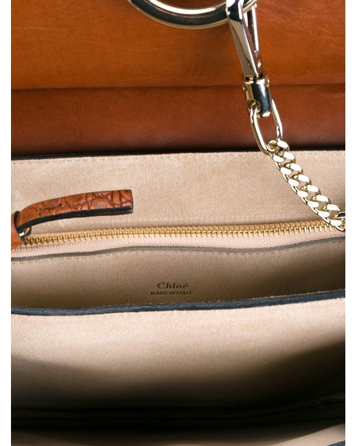 Chlo¨¦ Embossed Leather Faye Bag in Brown | Lyst