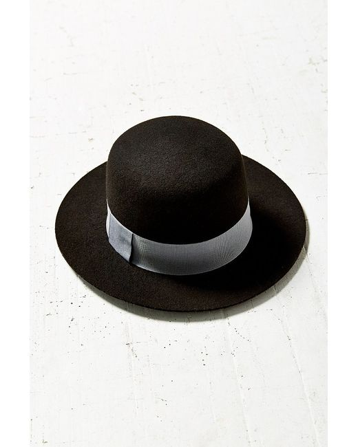 Urban Outfitters | Black Sadie High Crown Felt Hat | Lyst