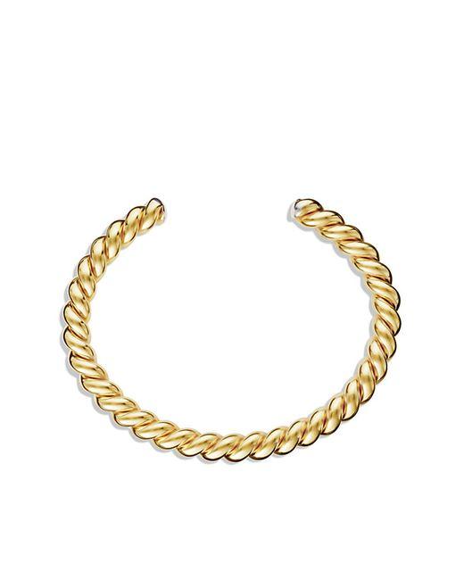 David Yurman | Metallic Cable Cuff Bracelet With 18k Gold for Men | Lyst