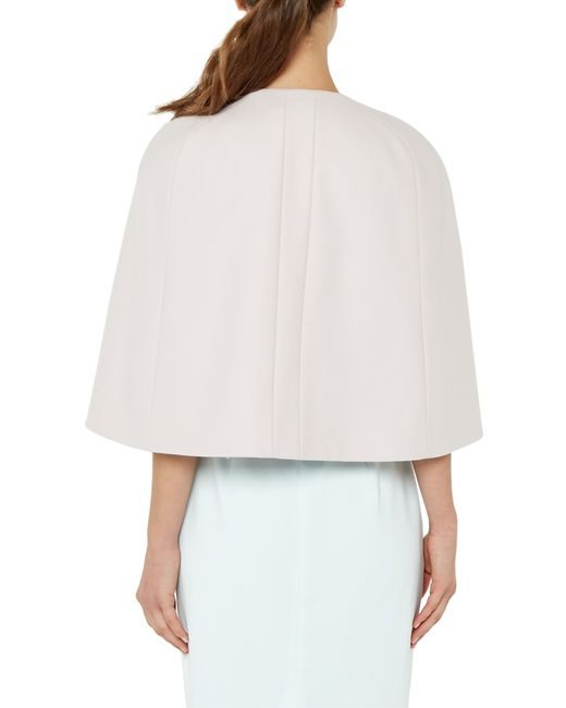Ted Baker Malory Embellished Cape In White (Baby Pink)