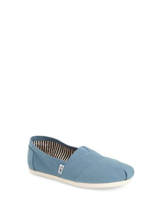 TOMS | Blue 'classic' Slip-on | Lyst