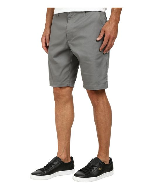 RVCA | Gray The Week-end Stretch Shorts for Men | Lyst