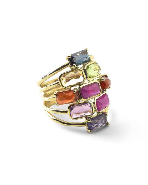 Ippolita   Pink 18k Rock Candy Mosaic Cascade Ring   Lyst