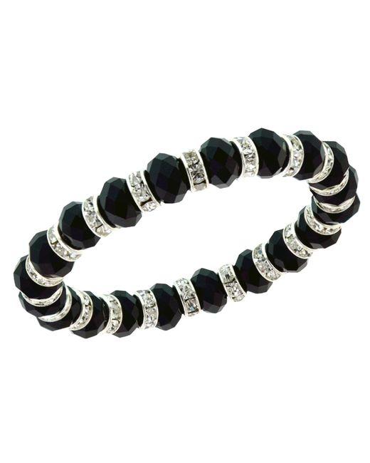 2028 | Black Bracelet, Jet Bead Stretch Bracelet | Lyst