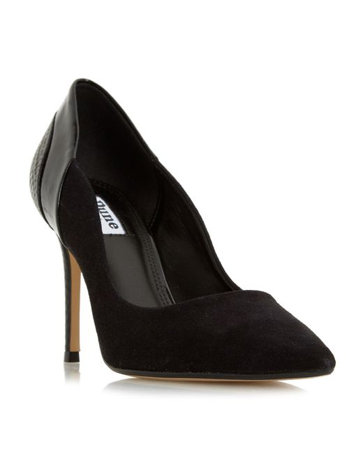 Dune - Black Suede 'bayly' High Stiletto Heel Court Shoes - Lyst