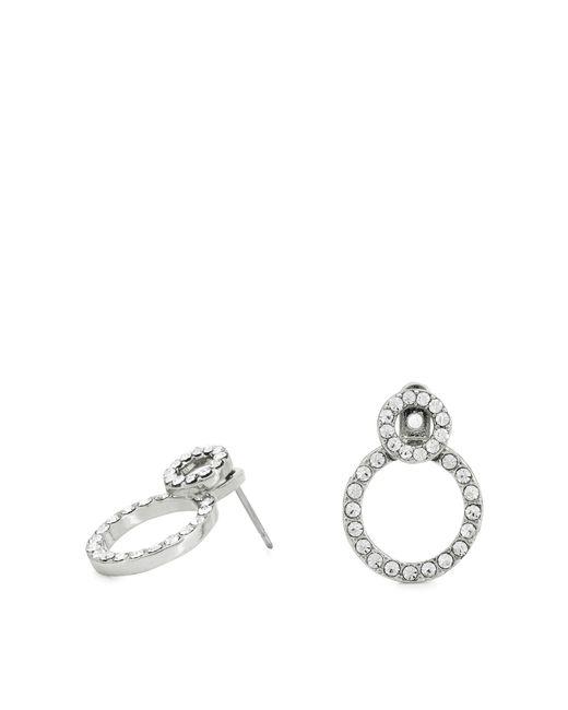 Pilgrim - Metallic Silver Plated Crystal 'victoria' Stud Earrings - Lyst