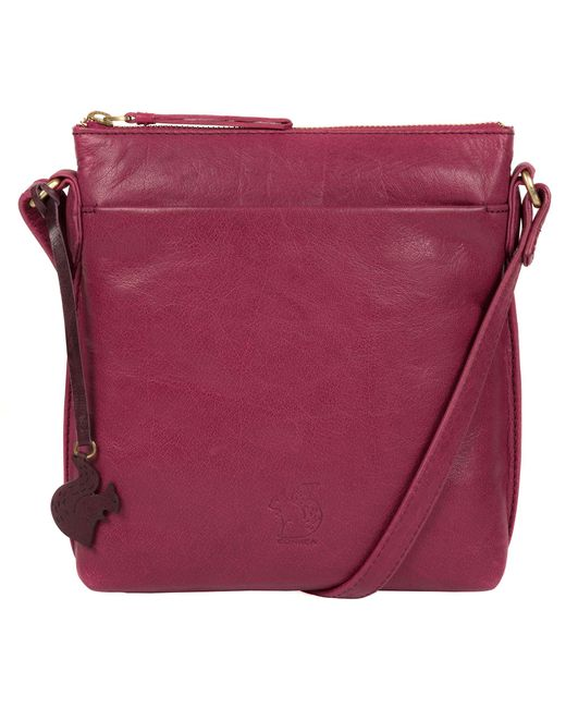 Conkca London Pink Orchid 'nikita' Leather Compact Cross-body Bag