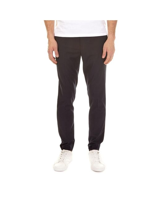 Burton - Blue Navy Stretch Tapered Fit Trousers for Men - Lyst
