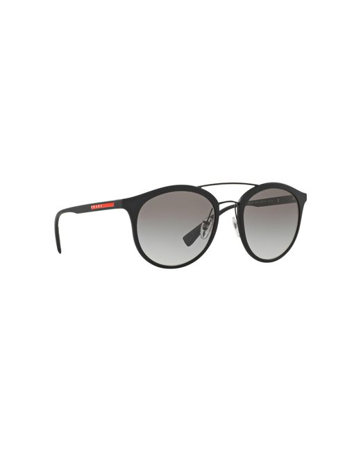 0345db9a7de Prada Black Rubber Ps04rs Phantos Sunglasses in Black for Men - Lyst