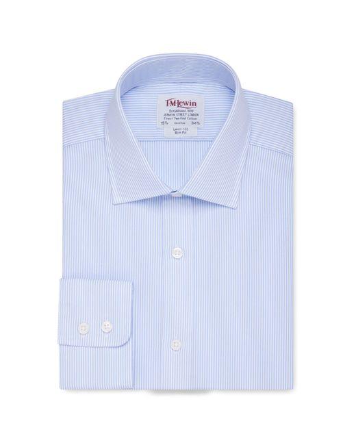 Tm Lewin - Slim Fit Light Blue Bengal Stripe Short Sleeve Length Shirt for Men - Lyst
