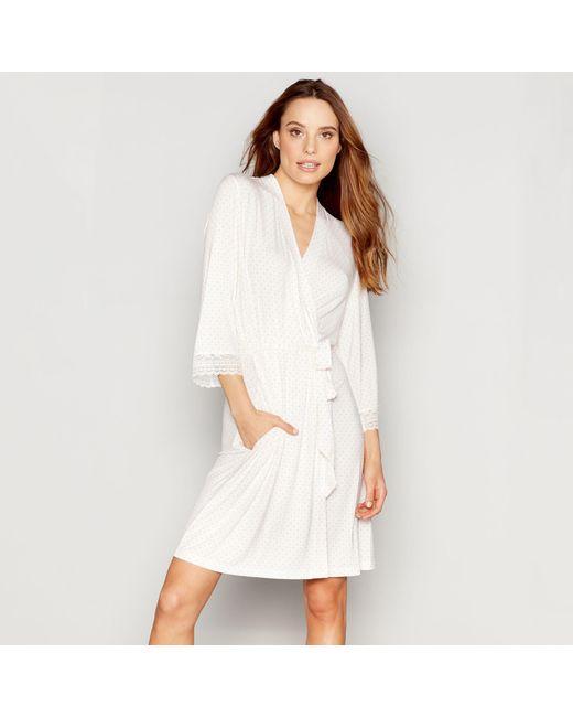 J By Jasper Conran White Diamond Print Jersey \'nomad\' Dressing Gown ...