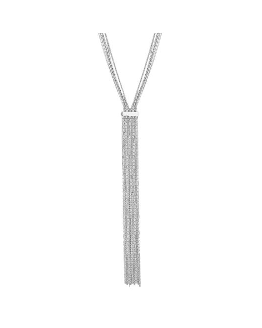 J By Jasper Conran - Metallic Silver Diamante Crystal Fringe Statement Necklace - Lyst