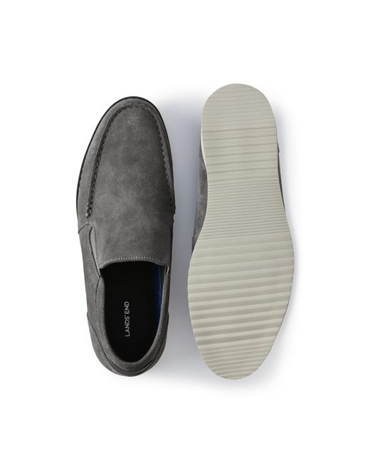 1e75eb1f3a4 ... Lands  End - Gray Grey Comfort Casual Suede Loafers for Men - Lyst