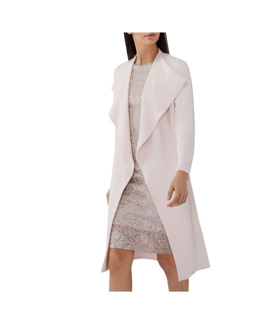 Coast - Light Pink 'shanie' Drape Jacket - Lyst