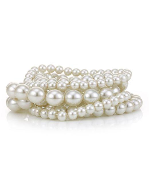J By Jasper Conran - Multicolor Designer Cream Pearl Stretch Bracelet Set - Lyst