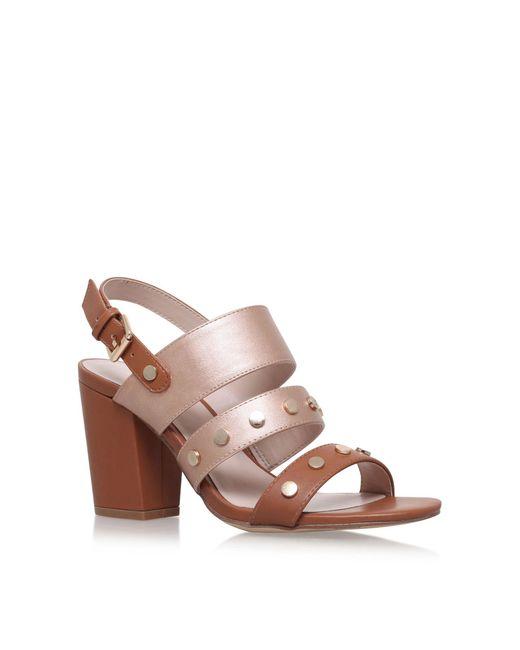 Nine West - Brown 'bold' High Heel Sandals - Lyst