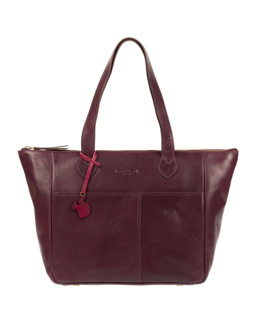 7c8852d851fd Conkca London - Multicolor Plum  harp  Handmade Leather Tote Bag ...