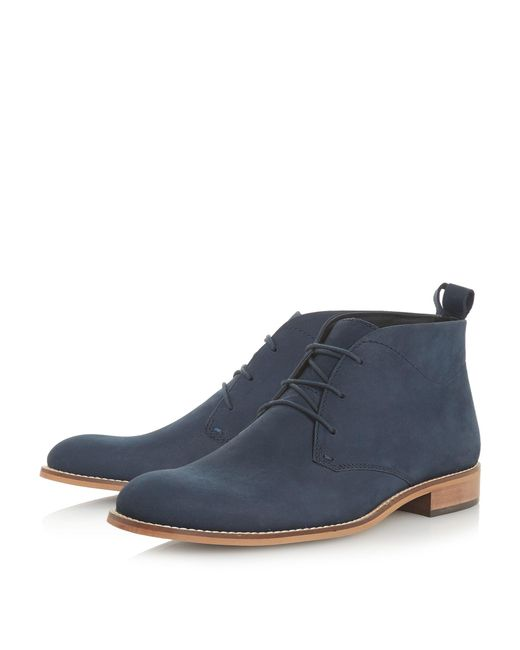 Navy 'Messi' smart chukka boots outlet for cheap Uu26N5F