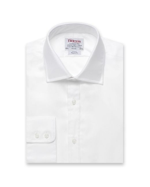 Tm Lewin - White Twill Regular Fit Button Cuff Regular Sleeve Length Shirt for Men - Lyst