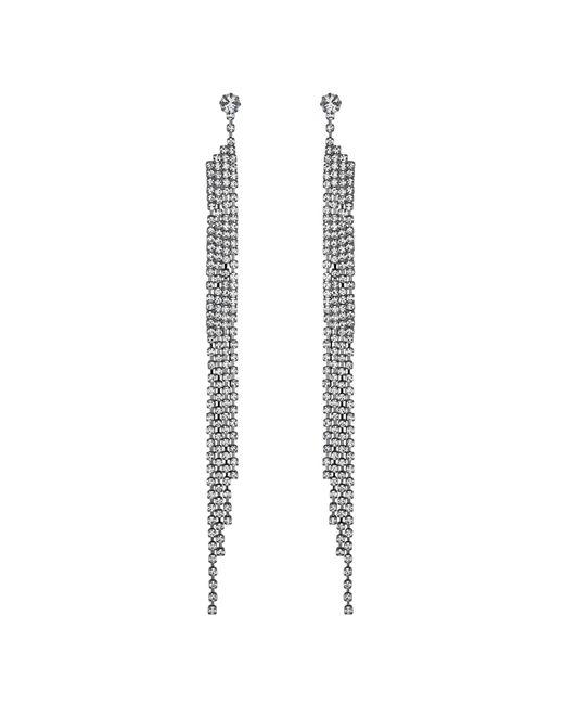 Lipsy - Metallic Crystal Diamante Shower Drop Earrings - Lyst