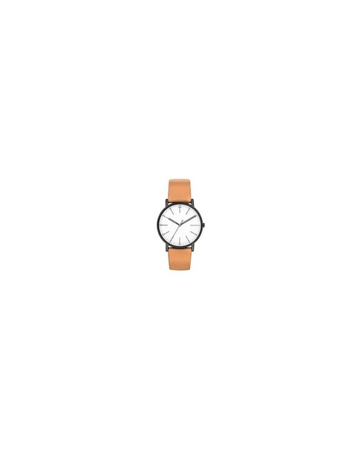 Skagen - Men's Brown Quartz Leather Strap Watch for Men - Lyst