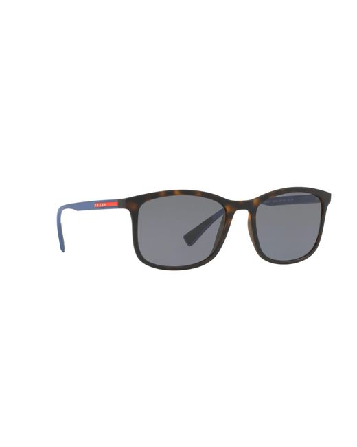 b697aaecd2 ... coupon code for prada brown havana ps 01ts rectangle sunglasses for men  lyst 604eb 3ed89