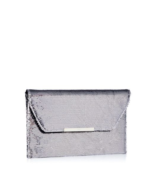Faith - Metallic Sequin 'party' Envelope Clutch Bag - Lyst