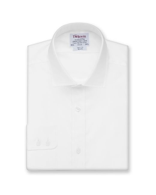 Tm Lewin - White Twill Slim Fit Button Cuff Short Sleeve Length Shirt for Men - Lyst