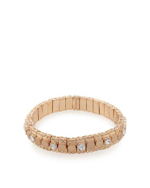 Pilgrim - Multicolor Rose Gold Plated Stone Stretch Bracelet - Lyst